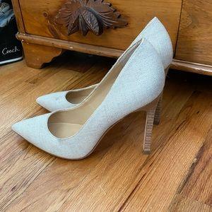 Ivanka Trump off white heels